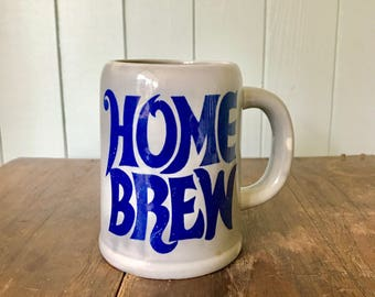 Vintage Ceramic Home Brew Mug