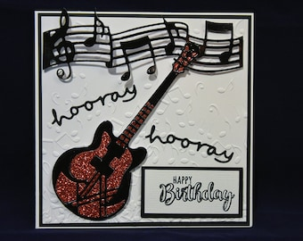 Guitar Birthday Card Music Happy For Him A Boy Personalised Greetings