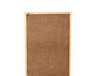 Brown Burlap Acoustic Wall Panel