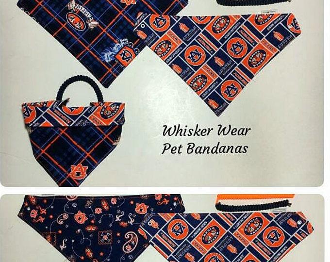 alabama football fabric, reversible custom pet bandana, sizes XS-XL,  dog bandana, pet scarf, dog scarf, college football, pet wear