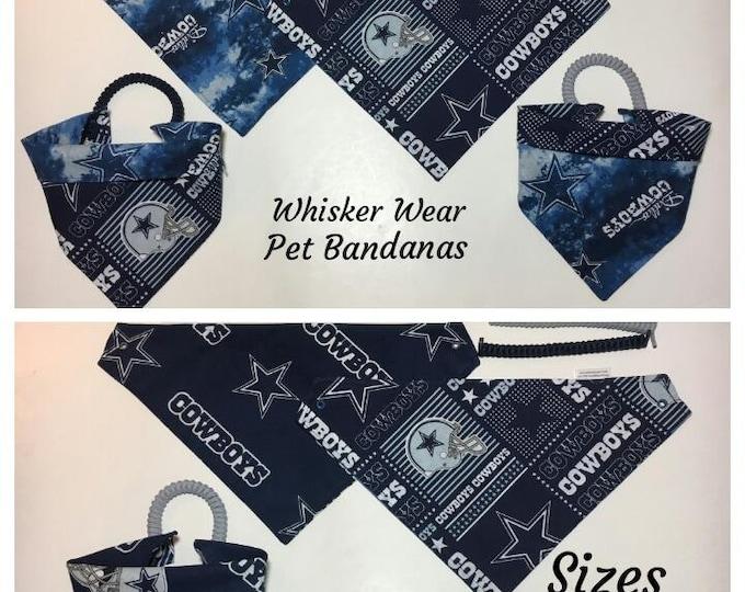 Dallas football fabric , reversible custom pet bandana, dog bandana, pet scarf,dog scarf, football, pet clothing, pet attire