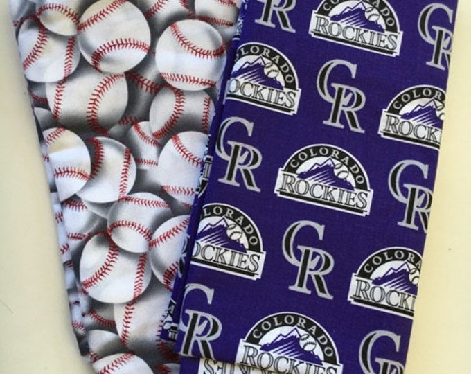 colorado baseball fabric, reversible custom pet bandana, dog scarf, pet scarf, dog bandana, pet clothing, pet attire, baseball bandana