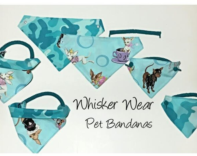 canine corner dog breeds, reversible dog scarf, dog bandana, pet scarf, pet bandana, pet attire, pet clothing, reversible, chihuahua,