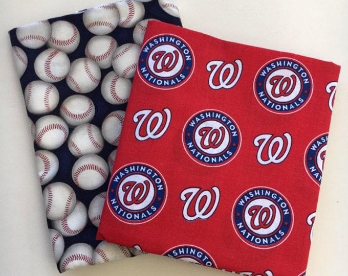 washington nationals fabric, reversible custom pet bandana dog scarf, pet scarf, dog bandana, pet clothing, pet attire, baseball bandana