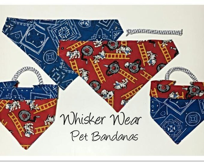 canine corner dog breeds, reversible dog scarf, dog bandana, pet scarf, pet bandana, pet attire, pet clothing, reversible, dalmation, fire