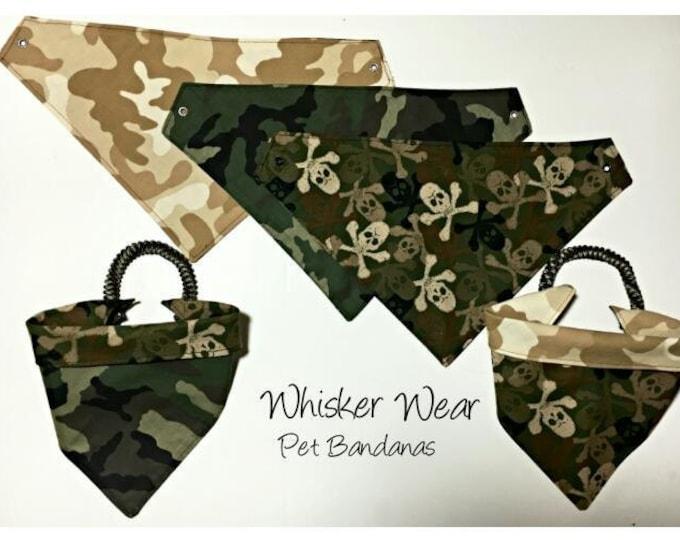 reversible custom pet bandana, dog scarf, trendy digs wear, dog bandana, pet scarf, pet attire, pet clothing, reversible, skulls, flames
