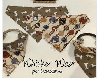 dog scarf, pet bandana, sizes XS-XL, pet scarf, dog bandana, pet clothing, pet attire, every day bandana, pet wear