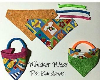 summer wear, reversible dog scarf, dog bandana, pet scarf, pet bandana, pet attire, pet clothing,summer, reversible, sandals, beach