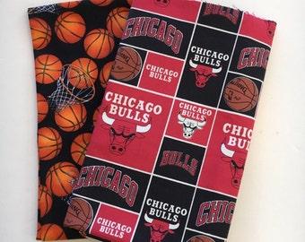 chicago basketball fabric, reversible custom pet bandana, pet scarf, dog bandana, pet clothing, pet attire, dog scarf, basketball bandana