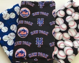 New York baseball fabric, reversible custom pet bandana, sizes XS-XL,  pet scarf, dog bandana, dog scarf, pet clothing, pet attire