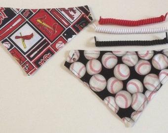 St. Louis baseball fabric, reversible custom pet bandana, dog scarf, pet scarf, dog bandana, pet clothing, pet attire, baseball bandana