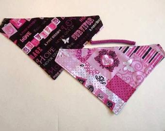 Pink Power, breast cancer awareness,pet bandana, pet scarf, dog scarf, pet attire, pet clothes, dog bandana, pet clothes