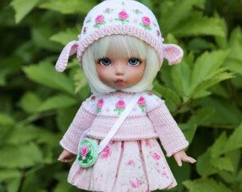 Sheep outfit for 1/8, 1/6 BJD dolls pukifee, lati yellow, Irrealdoll