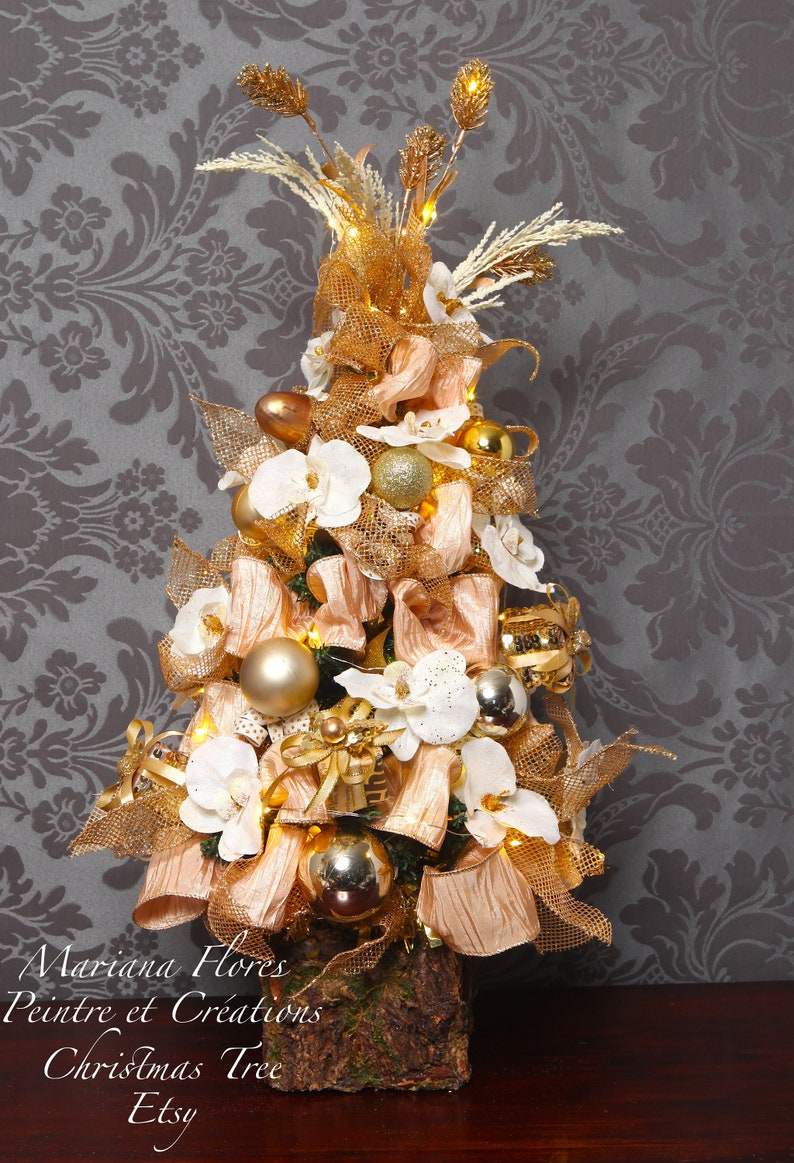 Little Christmas tree height30in. Wooden base classic style image 0