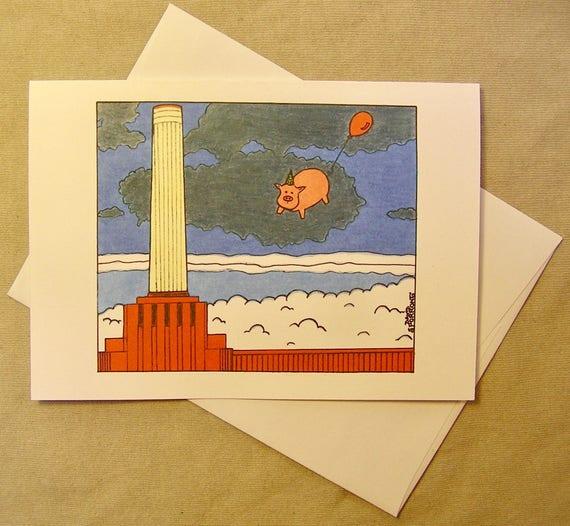 Pink Floyd Birthday Card Animals Regular Size Card And Etsy