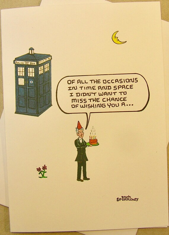 Doctor Who Birthday Card Greetings From The 12th Doctor Etsy