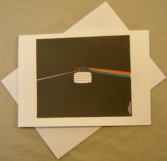 Pink Floyd Birthday Card Dark Side Of The Cake Regular Size Etsy