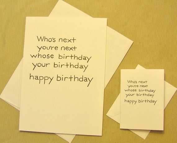 The Who Birthday Card Whos Next Birthday Etsy