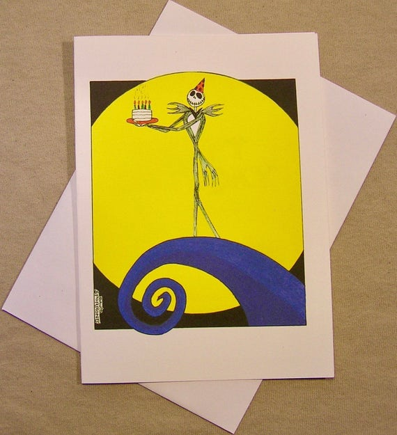 The Nightmare Before Christmas Birthday Card Jack With Etsy