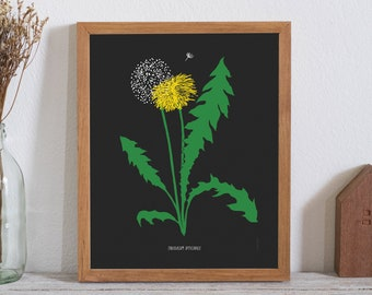 Dandelion Poster - bad weed series (11X14 inches) floral print