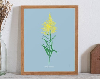Goldenrod Poster - bad weed series (11X14 inches) floral print