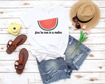 Girls Short Sleeve  Youre One in A Melon top Watermelon Seeds Green Shorts