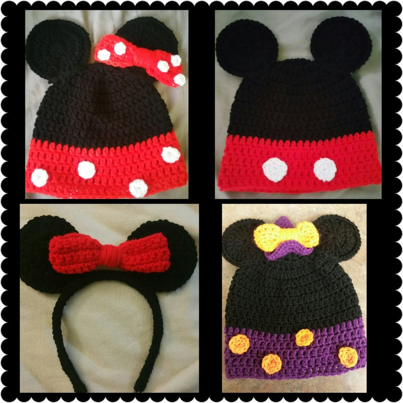 Crochet Minnie Mickey Mouse Inspired Etsy