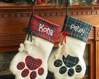 Personalized Green CAT Stocking