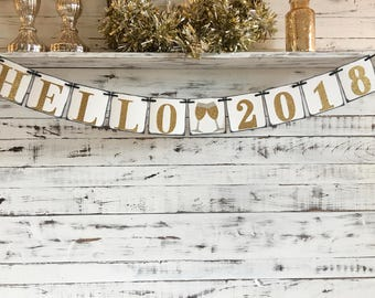 hello 2019 banner new years eve decoration new years eve banner happy new year new years eve party new year prop nye 2019 new year garland