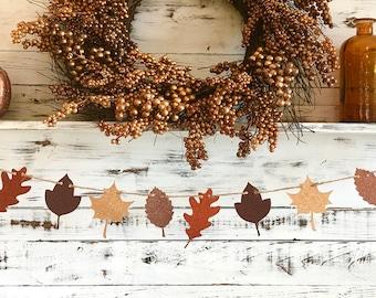 Fall Garland,Fall Leaves Decor,Fall Decorations,Thanksgiving Decor,Autumn Decor,Fall Mantle Decor,Rustic Fall Decor,Autumn Garland,Fall Leaf