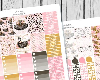 Black Swan Planner Sticker Printable / Sticker Printable / Printable Planner Stickers / Weekly Planner Sticker Kit