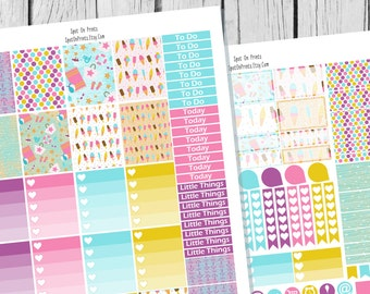 Summer Festival Planner Sticker Printable / Sticker Printable / Printable Planner Stickers / Weekly Planner Sticker Kit