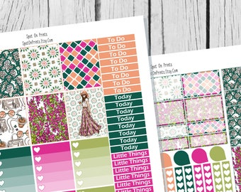 Boho Bloom || Planner Sticker Printable / Sticker Printable / Printable Planner Stickers / Weekly Planner Sticker Kit