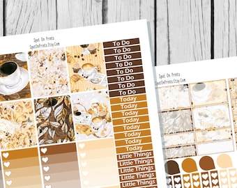 Coffee Planner Sticker Printable / Sticker Printable / Printable Planner Stickers / Weekly Planner Sticker Kit