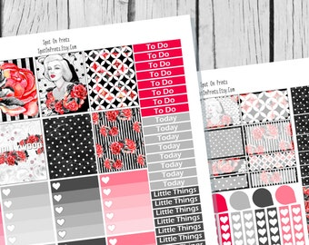Old Hollywood Planner Sticker Printable / Sticker Printable / Printable Planner Stickers / Weekly Planner Sticker Kit
