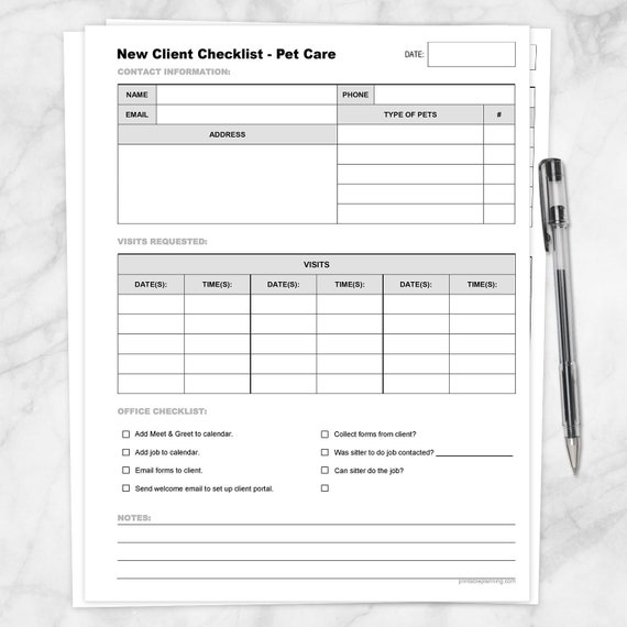 Pet Sitter Notes Template from i.etsystatic.com