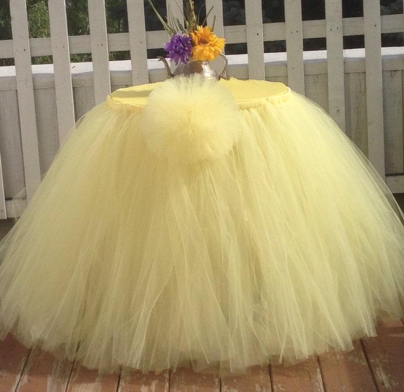 6439ba95a 60 Round Tutu Tulle Table Skirt   Etsy