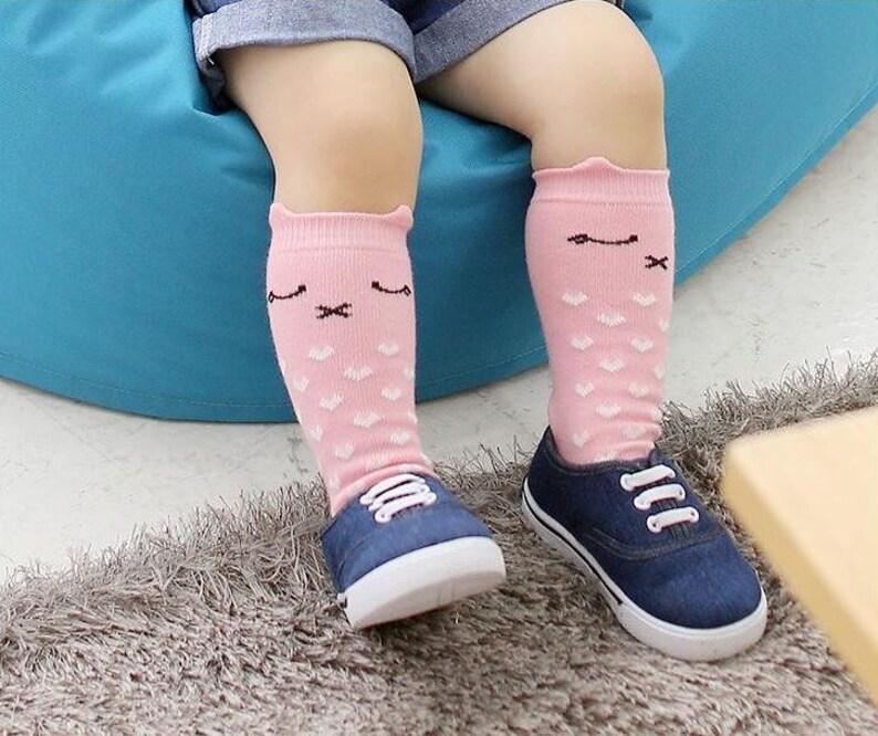 483037db3 Toddler Animal Socks Baby Tube Socks Cat Socks Pink Cat