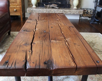Stunning Reclaimed Barn Wood Coffee Table