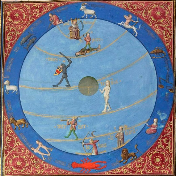 Traditional Astrology Love Horary Chart Reading Etsy