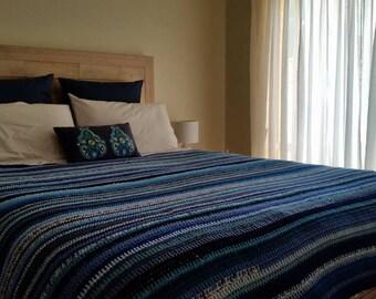 Crochet Queen bed blanket