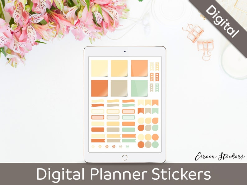 Digital Planner Stickers - Fall sticky notes, banners - Digital Bullet  Journal - Goodnotes, Metamoji, Xodo, Notability, iPad, Android, PNG