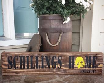 Iowa Hawkeyes; ISU; Wedding Gift; Wood Sign; Last Name; Cyclones; Iowa State; Iowa