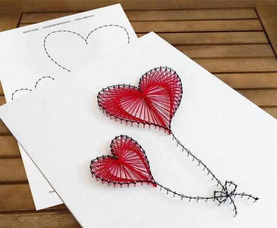 String Art Pattern Balloon Hearts String Art Template String Art Tutorial String Art Diy String Art Patterns Pattern Only