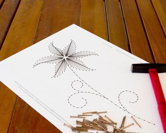 string art pattern the lily flower string art etsy