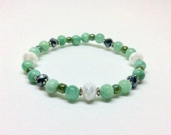 Blue Aqua Beaded bracelet