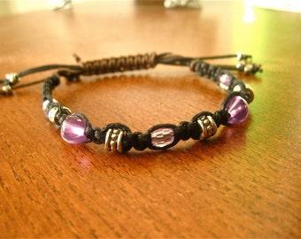 Purple/Black Friendship Bracelet