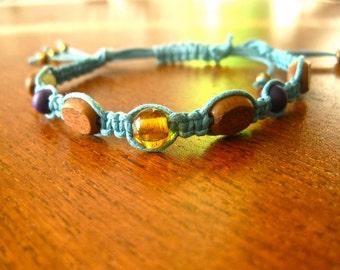 Sky Blue friendship/macrame bracelet