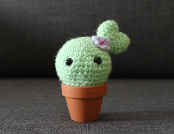 Reizende Herzförmige Häkeln Kaktus Amigurumi Mini Topf Mit Etsy