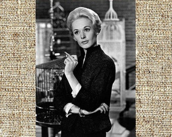 Tippi Hedren photograph, vintage photo print, classic old Hollywood photograph, housewarming gift, gift for him or her, birthday gifts